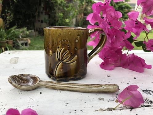 陶板咖啡杯